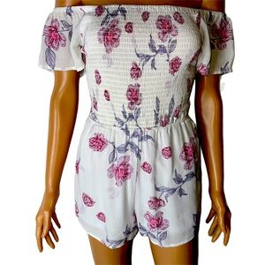 NWT Kendall & Kylie brand white & pink floral
